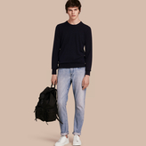 Burberry Straight Fit Japanese Light-wash Denim Jeans