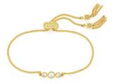 Cole Haan Three Stone Bezel Set CZ Bracelet