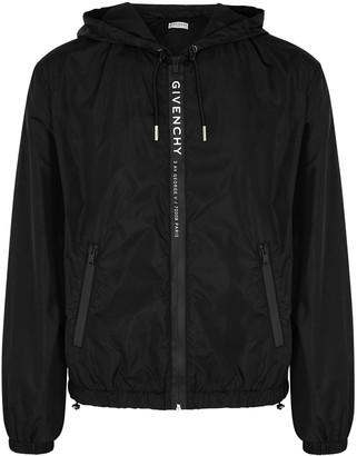 Givenchy Black logo-print shell jacket