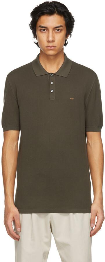 Thumbnail for your product : Ermenegildo Zegna Couture Brown Logo Polo