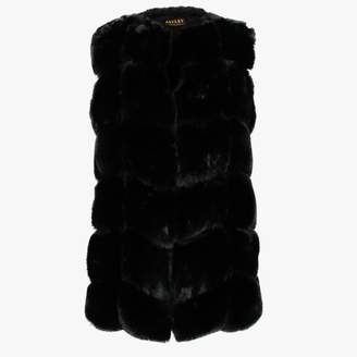 Jayley Black Faux Fur Gilet
