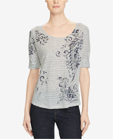 Lauren Ralph Lauren Scoop Neck Linen T-Shirt