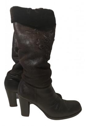 Prada Brown Shearling Boots