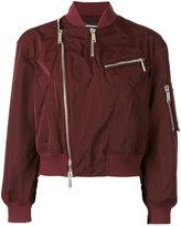 DSQUARED2 zip-embellished bomber jacket - women - Polyester - 36
