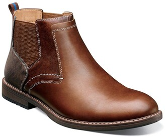 Nunn Bush Fuse Leather Plain Toe Chelsea Boot - Wide Width Available