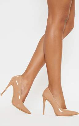 PrettyLittleThing Nude PU Court Shoe