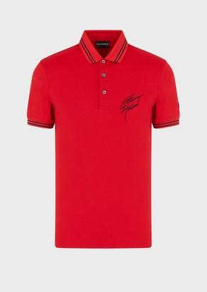 Emporio Armani Pima Polo Shirt With Logo