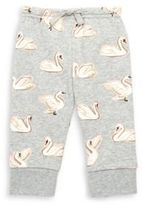 Stella McCartney Baby's Swan Print Cotton Sweatpants
