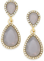 INC International Concepts Gold-Tone Gray Stone Teardrop Drop Earrings, Only at Macy's