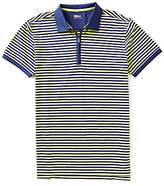 Bobby Jones Golf Rule 18 Quarter-Zip Feeder Stripe Short-Sleeve Polo Shirt