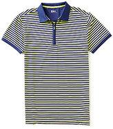 Bobby Jones Rule 18 Quarter-Zip Feeder Stripe Short-Sleeve Polo Shirt