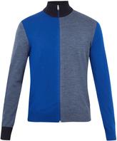 Paul Smith Contrast-panel zip-through wool sweater
