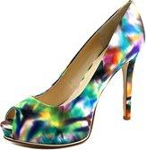 GUESS Honora 3 Women US 5.5 Blue Peep Toe Platform Heel