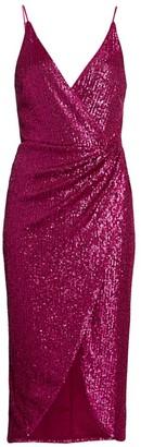 Jonathan Simkhai Sequin Midi Wrap Dress
