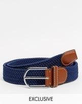 Reclaimed Vintage Woven Belt - Blue