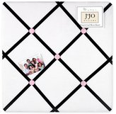 JoJo Designs Pink, Black and White Princess Fabric Memory/Memo Photo Bulletin Board by Sweet