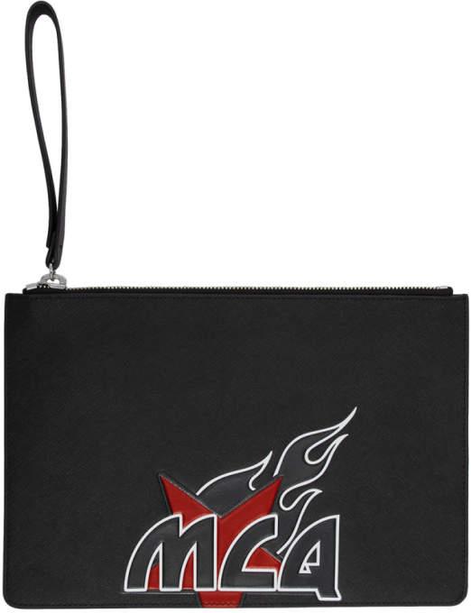 McQ (マックキュー) - Mcq Alexander Mcqueen McQ Alexander McQueen ブラック ロゴ タブレット ポーチ