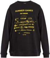 Raf Simons Summer Games-print cotton sweatshirt