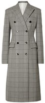 Calvin Klein Prince Of Wales Checked Wool And Silk-blend Coat