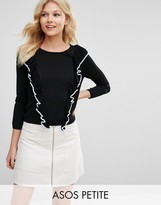 Asos Sweater with Tipped Ruffles