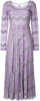 M Missoni zig-zag knit maxi dress