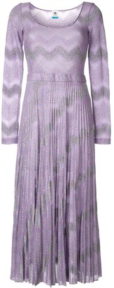M Missoni Zig-Zag Knit Maxi Dress
