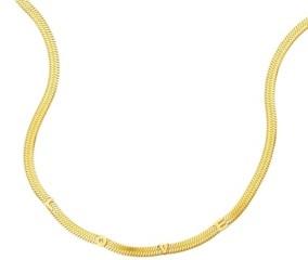 ADORNIA Love Snake Chain Necklace