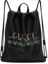 Gucci Black Coco Capitán Edition fake Gucci Drawstring Backpack