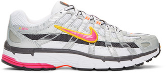 Nike Silver and White P-6000 Sneakers