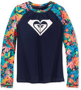 Roxy Long-Sleeve Hawaii Rash Guard, Girls (7-16)