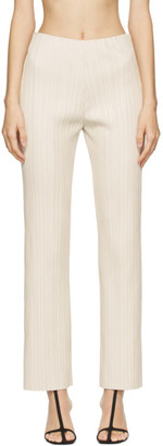 Nanushka Off-White Vegan Leather Char Trousers