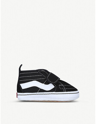 Vans Sk8-Hi Crib canvas and suede trainers 0-6 months