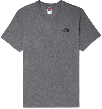 The North Face Dome Logo-Print Melange Cotton-Blend Jersey T-Shirt - Men - Gray
