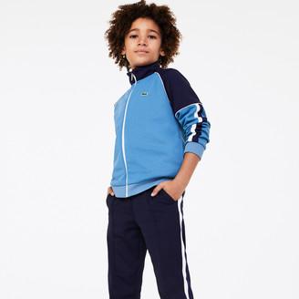 Lacoste Boys Two-Tone Vintage Style Zip Sweatshirt