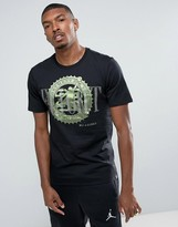 Jordan Nike Pure Money Bank Note T-Shirt In Black 844290-010