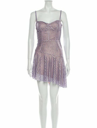 Fleur Du Mal Polka Dot Print Mini Dress w/ Tags Metallic