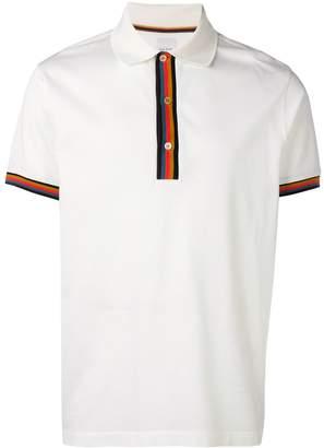 Paul Smith Artist stripe detailed polo shirt