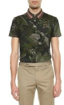 Valentino Cuban Palm Pattern Polo T-shirt
