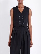 McQ by Alexander McQueen Double-breasted stretch-wool waistcoat
