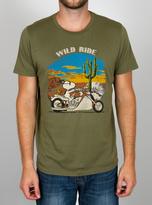 Junk Food Clothing Peanuts Wild Ride Tee-graffitti Green-s