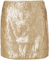 J.Crew Sequinned Crepe Mini Skirt - Gold