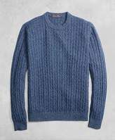 Brooks Brothers Golden Fleece® 3-D Knit Cashmere Cable-Stitch Crewneck
