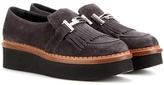 Tod's Suede platform loafers