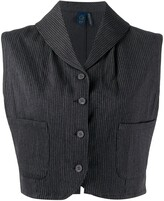 Romeo Gigli Pre Owned 1990s pinstripe cropped waistcoat