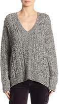 Vince Women's Braided V-Neck Sweater