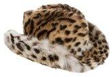 J. Mendel Leopard Print Fur Hat