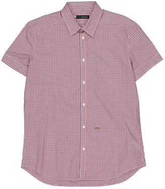 DSQUARED2 Red Cotton Shirts