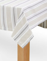 Marks and Spencer Twill Striped Tablecloth