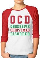 Rong T-shirts Women's OCD Obsessive Christmas Disorder Raglan Baseball T-Shirt