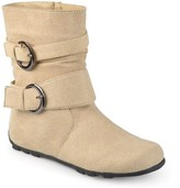 Brinley Co. Girl's Buckle-Strap Mid-Calf Riding Boots